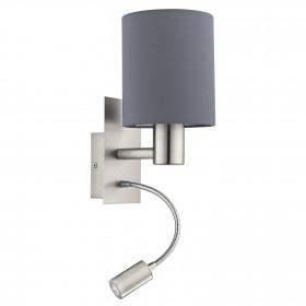 Eglo PASTERI 96479 Nástěnné svítidlo 40W/E27 + 1X3,5W/LED 3000K